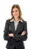 Mulher de negócio de sorriso em um terno Fotos de Stock Royalty Free