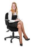 Mulher de negócio de sorriso nova Fotografia de Stock