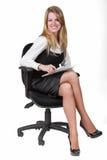 Mulher de negócio de sorriso nova fotografia de stock royalty free