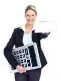 Mulher de negócio do contabilista fotos de stock