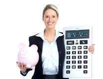Mulher de negócio do contabilista imagens de stock royalty free