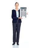 Mulher de negócio do contabilista fotografia de stock