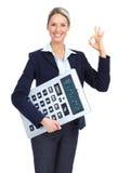 Mulher de negócio do contabilista Fotos de Stock Royalty Free