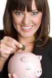 Mulher de negócio do dinheiro fotos de stock