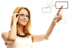 Mulher de negócio do Redhead Imagens de Stock Royalty Free