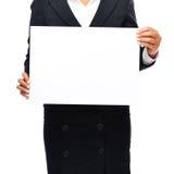 Mulher de negócio do sinal Imagens de Stock Royalty Free
