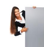 Mulher de negócio do sinal Imagens de Stock
