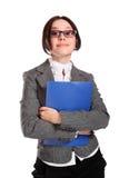 Mulher de negócio do smiley Imagens de Stock