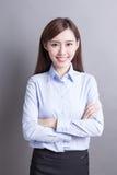 Mulher de negócio do sorriso Foto de Stock