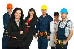 Mulher de negócio e povos diferentes Foto de Stock