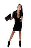 Mulher de negócio elegante que guardara a carteira Fotografia de Stock Royalty Free