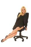 Mulher de negócio em #125 vermelho Imagem de Stock