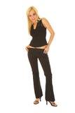 Mulher de negócio em #131 preto Foto de Stock Royalty Free