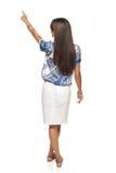 Mulher de negócio em apontar no espaço da cópia Imagens de Stock Royalty Free