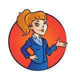 Mulher de negócio em apresentar a pose Imagem de Stock Royalty Free
