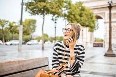 Mulher de negócio em Paris foto de stock royalty free