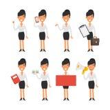 Mulher de negócio em poses diferentes Imagem de Stock