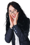 Mulher de negócio encantador nova Fotografia de Stock