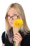 Mulher de negócio encantador nova Imagem de Stock