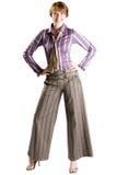 Mulher de negócio ereta Imagens de Stock Royalty Free