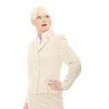 Mulher de negócio espantada Fotografia de Stock Royalty Free