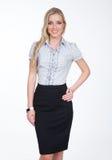 Mulher de negócio executiva loura com cabelo reto Imagem de Stock