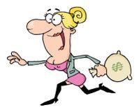 Mulher de negócio feliz Fotos de Stock Royalty Free