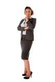 Mulher de negócio feliz Imagens de Stock