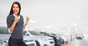 Mulher de negócio feliz Fotos de Stock