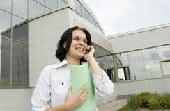 Mulher de negócio feliz do retrato Fotografia de Stock