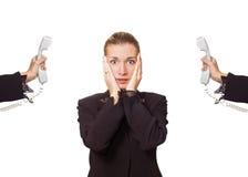 Mulher de negócio forçada foto de stock royalty free