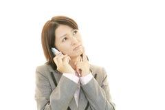 Mulher de negócio forçada Imagens de Stock Royalty Free
