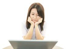 Mulher de negócio forçada Imagem de Stock