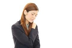 Mulher de negócio forçada Fotografia de Stock