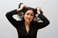 Mulher de negócio forçada Imagens de Stock