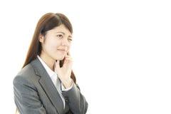 Mulher de negócio forçada Imagem de Stock Royalty Free