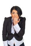 Mulher de negócio forçada e furioso fotografia de stock royalty free