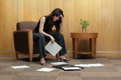Mulher de negócio frustrante Foto de Stock Royalty Free