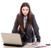 Mulher de negócio irritada imagem de stock royalty free