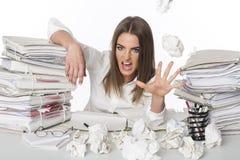 Mulher de negócio irritada Foto de Stock