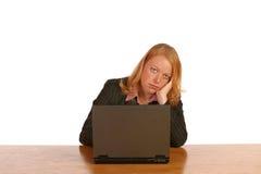 Mulher de negócio isolada Fotografia de Stock