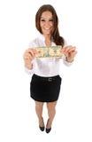 Mulher de negócio isolada Imagens de Stock