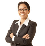 Mulher de negócio latino-americano segura fotografia de stock