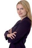 Mulher de negócio loura Fotografia de Stock Royalty Free