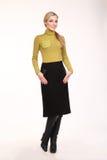 Mulher de negócio loura na roupa formal no branco Fotos de Stock Royalty Free