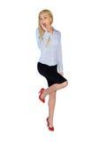 Mulher de negócio muito feliz Imagem de Stock