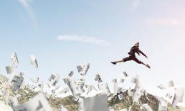 Mulher de negócio no movimento Imagens de Stock Royalty Free