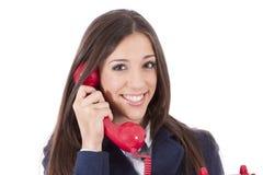 Mulher de negócio no telefone Foto de Stock Royalty Free