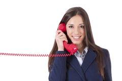 Mulher de negócio no telefone Fotos de Stock Royalty Free