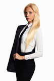 Mulher de negócio no terno formal Imagens de Stock